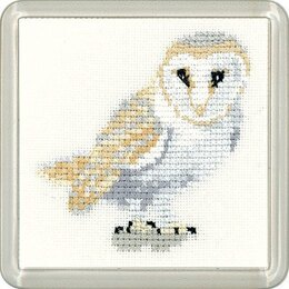 Heritage Barn Owl Coaster Cross Stitch Kit - 7cm x 7cm