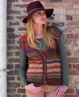 Womens Waistcoat in Katia Azteca and Merino Tweed - 9
