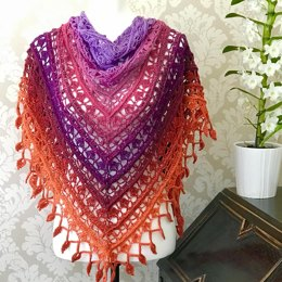 Red Hot Poker Shawl