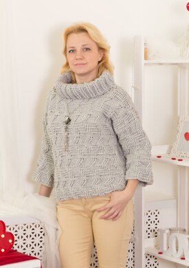 Wool crochet sweater