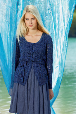 Ladie's Jacket with Lace in Schachenmayr Catania - S6951 - Downloadable PDF
