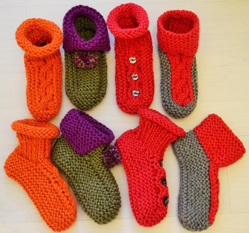 Chunky Slipper Socks 4 styles Knitting pattern by ...