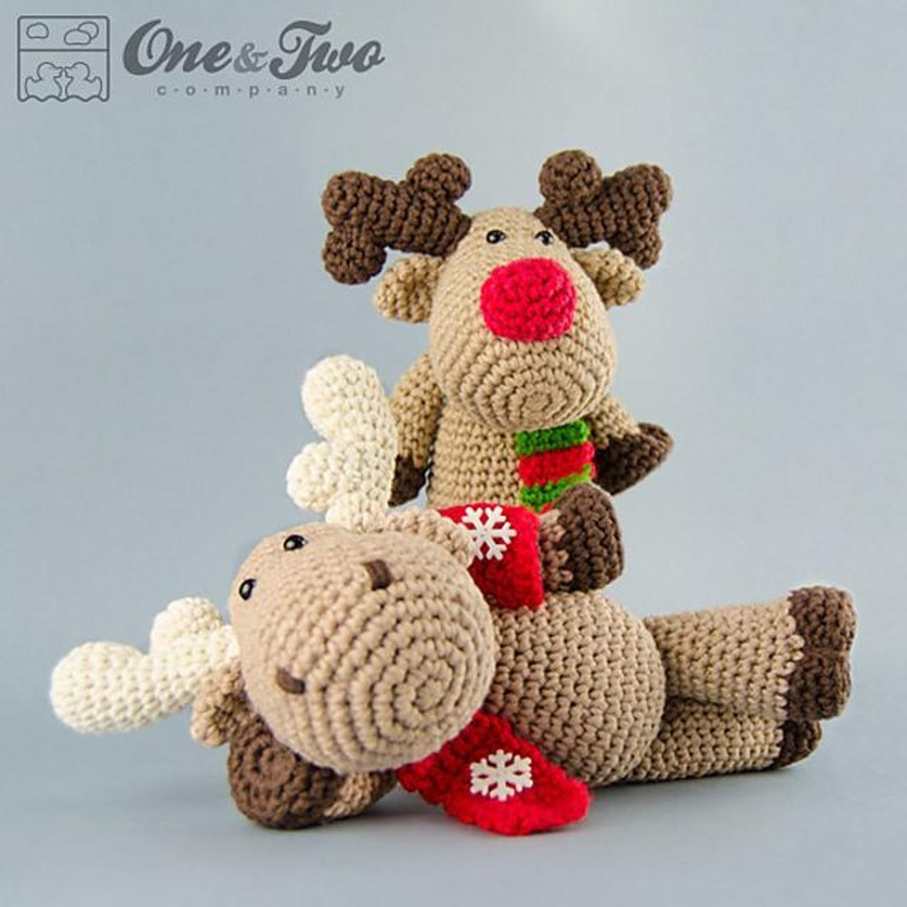 Reindeer moose amigurumi crochet pattern by one and two company zoom bankloansurffo Choice Image