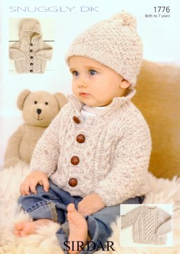 Sweater, Jacket & Hat in Sirdar Snuggly DK - 1776