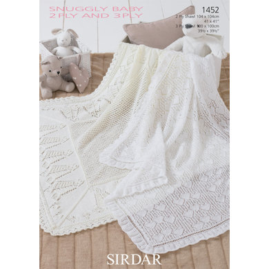 Sirdar Knitting Pattern Help : Shawls in Sirdar Snuggly 2 Ply and Snuggly 3 Ply- 1452 ...