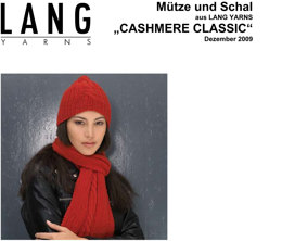 Hat and Scarf in Lang Yarns Cashmere Classic