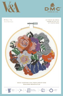 DMC The V&A - Deco Composition from Variations Cross Stitch Kit