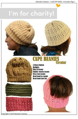 Cape Beanies Circular by Marinda Creations Knitting pattern by Women ... 9277719a46d