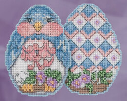 Mill Hill Bluebird Egg Ornament Cross Stitch Kit - Multi
