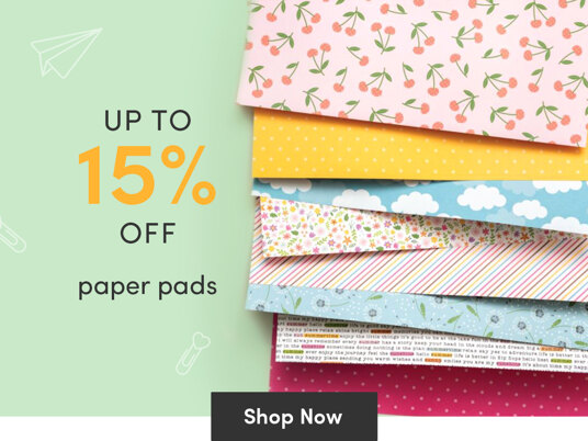 Up to 15 percent off paper pads!