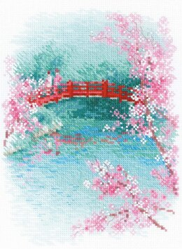 Riolis Sakura - Bridge Cross Stitch Kit