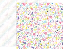 """American Crafts Paige Evans Bloom Street Double-Sided Cardstock 12""""X12"""" 25/Pkg - #20"""
