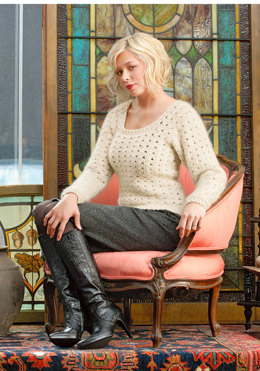 Crochet Sweater in Blue Sky Fibers Suri Merino - Downloadable PDF
