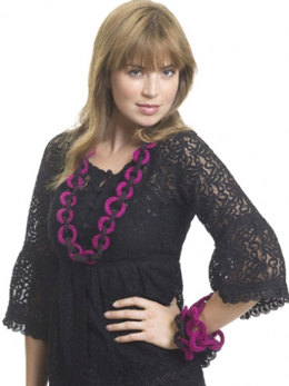Rings Around Necklace & Bracelets in Caron Simply Soft & Simply Soft Party - Downloadable PDF