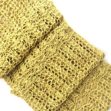 Flower Lace Scarf Knitting Pattern By The Feminine Touch Designs