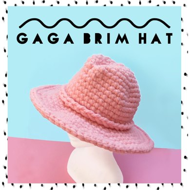 GAGA Brim Hat Crochet pattern by Katie Jones