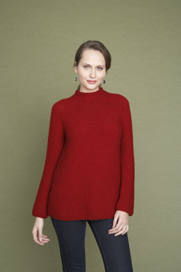 Garter Rows Pullover in Lion Brand Wool-Ease - 90184AD