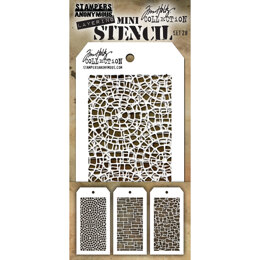 Stampers Anonymous Tim Holtz Mini Layered Stencil Set 3/Pkg - Set #28