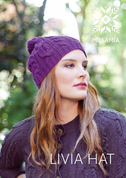 Livia Hat in MillaMia Naturally Soft Merino - Downloadable PDF
