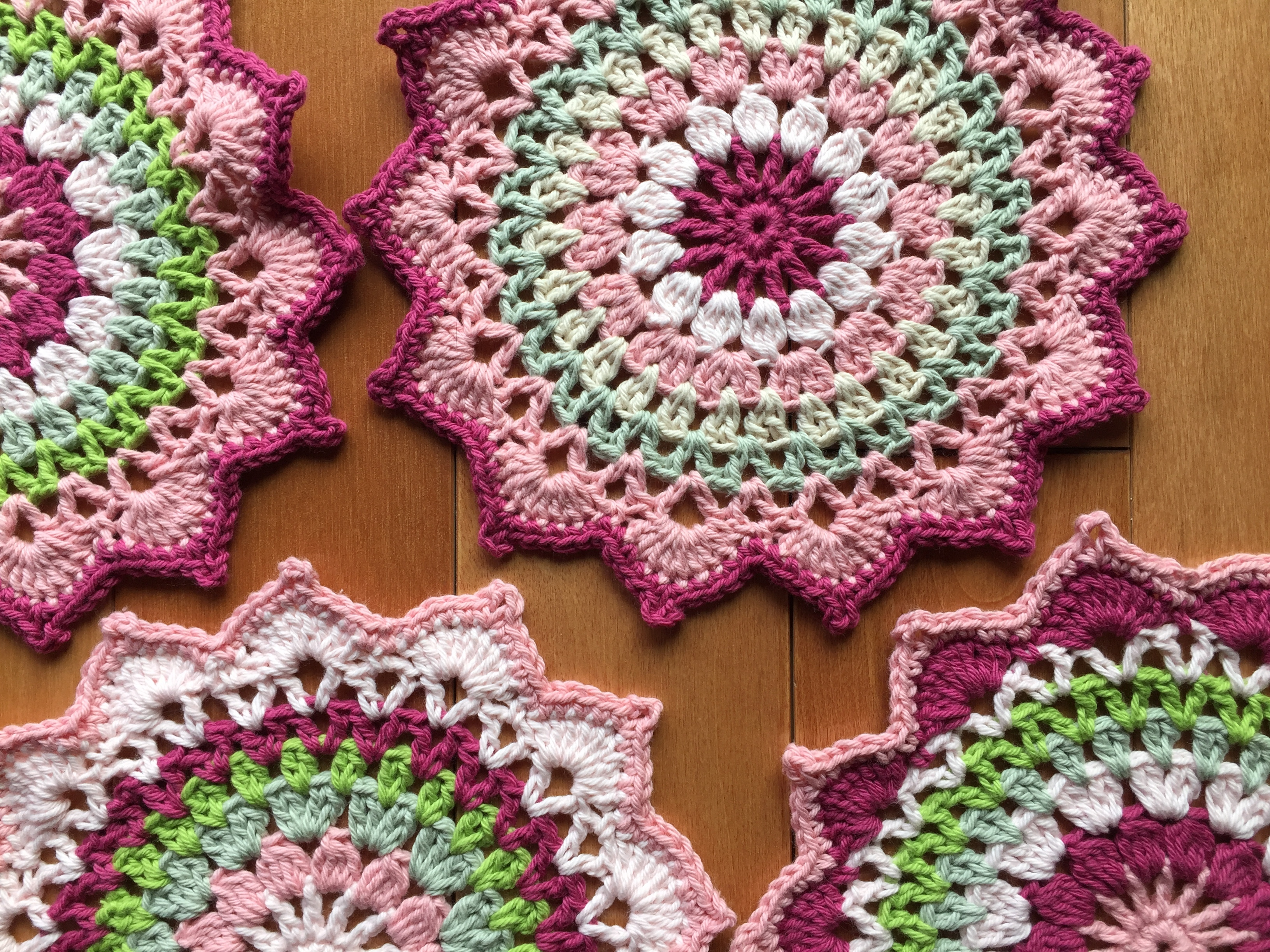 Little Cherry Blossom Mandala Crochet Project By Yuyuh W