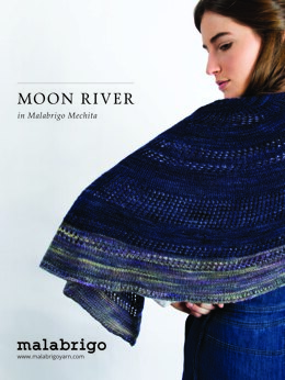 Moon River Shawl in Malabrigo Mechita - Downloadable PDF