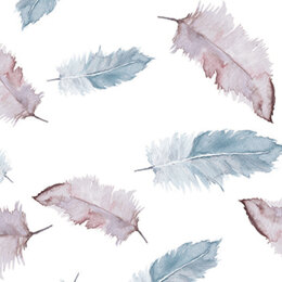 "Craft Consortium Decoupage Papers 13.75""X15.75"" 3/Pkg - Large Feathers"
