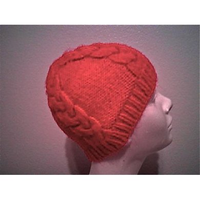 Four Cable Beanie--Knit in the Round