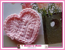 Crochet Heart Pattern Easy Applique Valentine Love