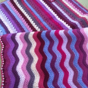 Striped Rainbow Blanket Knitting And Crochet Project By