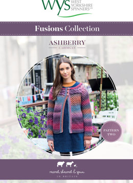 Ashberry Cardigan in West Yorkshire Spinners Aire Valley Aran Fusions - Downloadable PDF