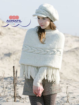 Carmen Hat and Poncho in Adriafil Ninnao - Downloadable PDF