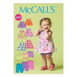 McCall's Infants' Reversible Top, Dresses, Bloomers and Pants M6912 - Sewing Pattern
