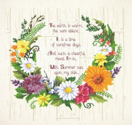 Janlynn Summer Sentiments Cross Stitch Kit