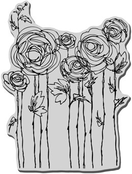 Stampendous Cling Stamp - Ranunculus Field