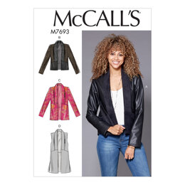 McCall's Misses' Shawl Collar Vest and Jackets M7693 - Paper Pattern Size 6-8-10-12-14 16-18-20-22