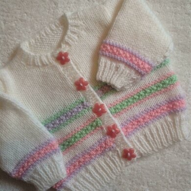 Pastel colours baby cardigan
