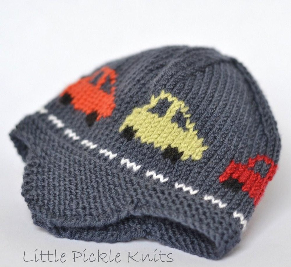 Knitting Pattern With Car Motif : Little Cars Aviator Knitting pattern by Little Pickle Knits