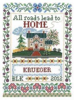 Imaginating Road to Home Cross Stitch Kit - 7.9in x 10.9in