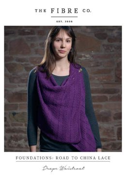 Drape Waistcoat in The Fibre Co. Road to China Lace - Downloadable PDF