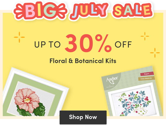 Up to 30 percent off floral & botanical kits!