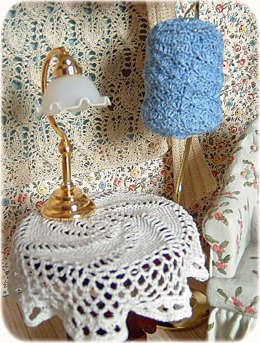 1:12th scale birdcage cover and spiral tablecloth
