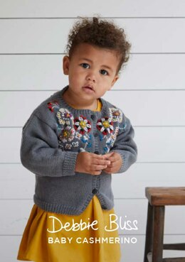 """Gisela Cardigan"" - Cardigan Knitting Pattern in Debbie Bliss Baby Cashmerino - DB272"
