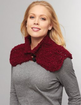 Buttoned Cowl to crochet in Bernat Soft Boucle