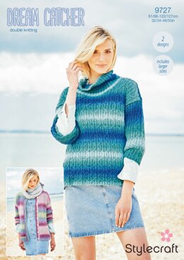 Jumper and Cardigan in Stylercraft Dreamcatcher - 9727 - Downloadable PDF