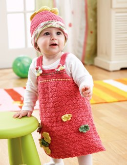 A-line Jumper and Hat in Bernat Softee Baby Solids