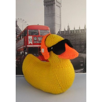 Knitting Pattern Duck Toy : Uber Cool Rubber Ducky Duck Toy Knitting pattern by madmonkeyknits Knitting...