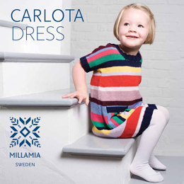 Carlota Dress in MillaMia Naturally Soft Merino - Downloadable PDF