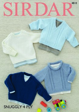 Sweaters in Sirdar Snuggly 4 Ply 50g - 4810 - Downloadable PDF