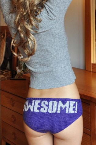 Knitting is Awesome! Hipster Panties