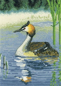 Heritage Grebe Cross Stitch Kit - 15cm x 21cm